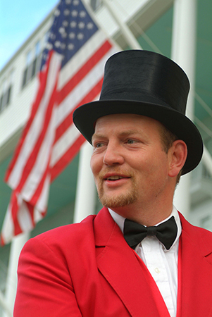 Carriage driver, Grand Hotel, Mackinac Island, MI : Travel USA : Michael Ventura Photography, Washington DC, Portraits, Stock, Caribbean, Headshots, head, shots , Photographer, Photography