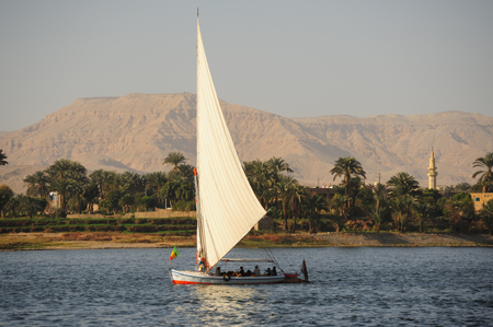 Egypt: A Felucca on the Nile at Luxor : Travel World : Michael Ventura Photography, Washington DC, Portraits, Stock, Caribbean, Headshots, head, shots , Photographer, Photography